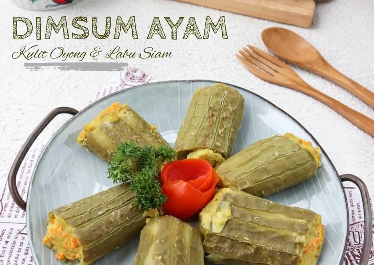 Dimsum Ayam (Kulit Oyong & Kulit Labu Siam)