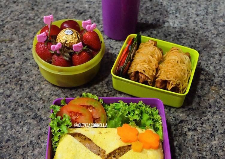 Resep Nasi Goreng Selimut + Sosis Mie (Bekal Anak) Paling Mudah