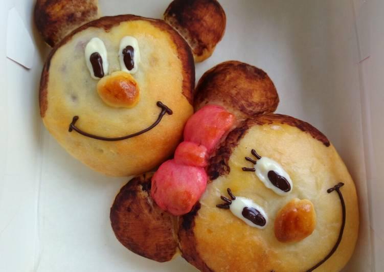 Simple Way to Make Award-winning Mickey purple potato bun