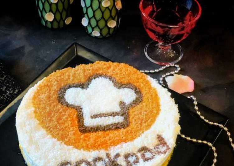 Whosayna's Bounty Mousse on Kesar Pista Badaam Cake