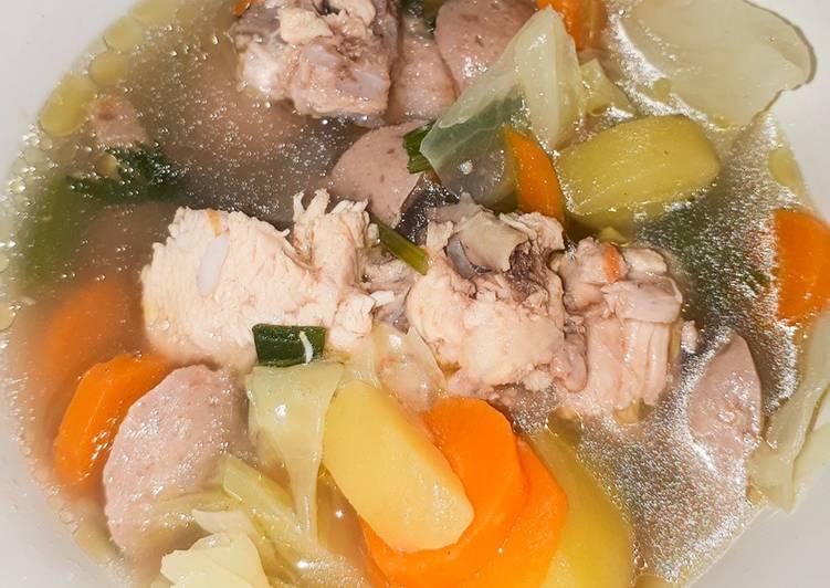 Sup Ayam Bakso Simple 🐔🐔