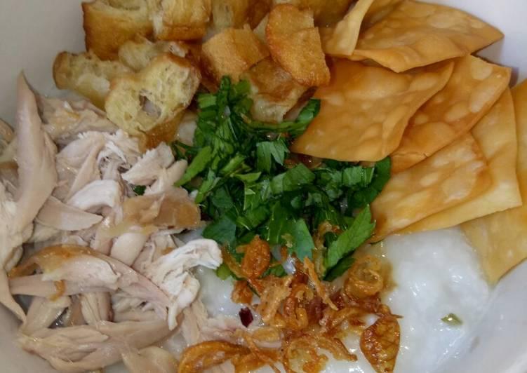 Resep Bubur ayam oriental/bubur ayam ala resto, Enak