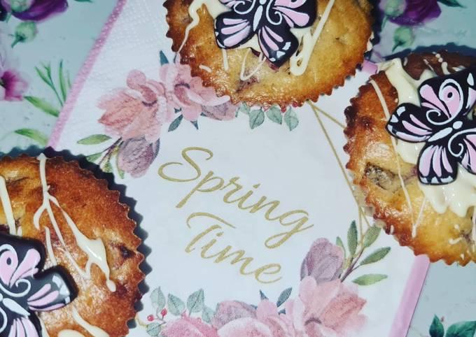 Rezept Um Preisgekrönte Erdbeer-Weiße Schokolade-Muffins 🍓🧁 zu machen