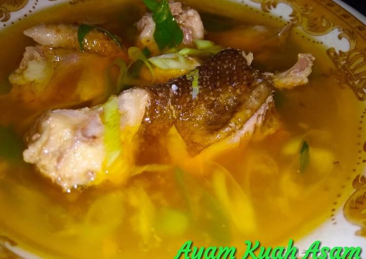 Ayam kuah Asam, sederhana.Ala Ummu Azkah Halim