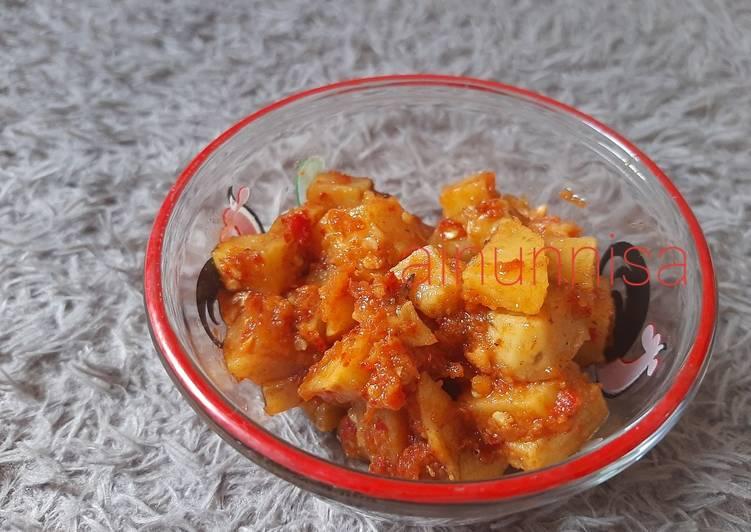 Resep Kentang goreng sambal terasi yang Sempurna