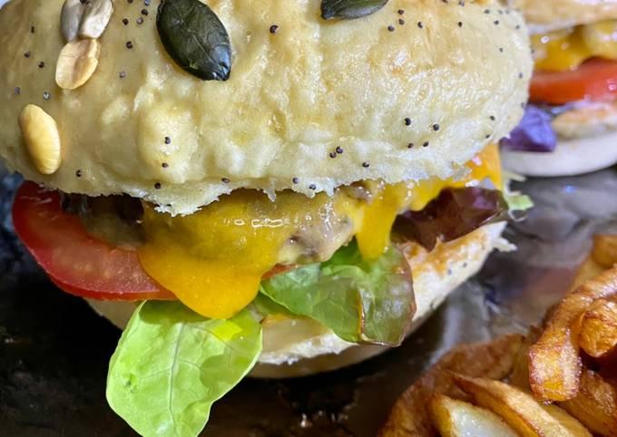 Pain burger maison rapide