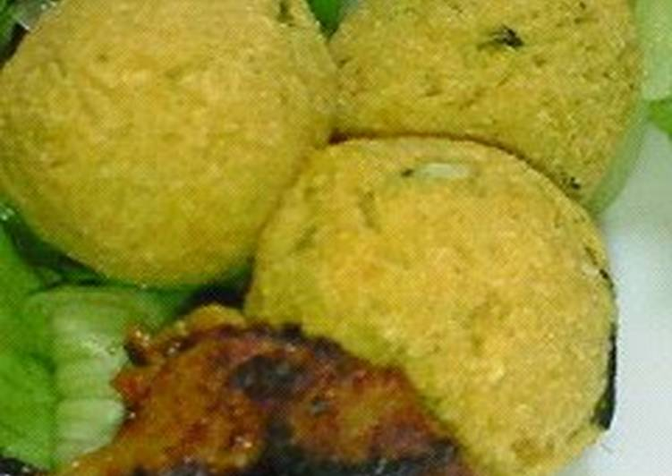 Okara and Kabocha Balls For Bentos