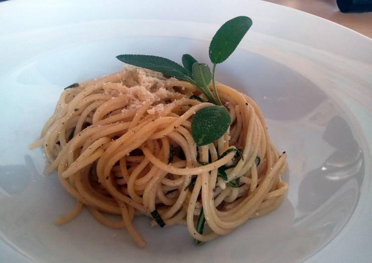 Simple Way to Prepare Super Quick Homemade Sage Spaghettini
