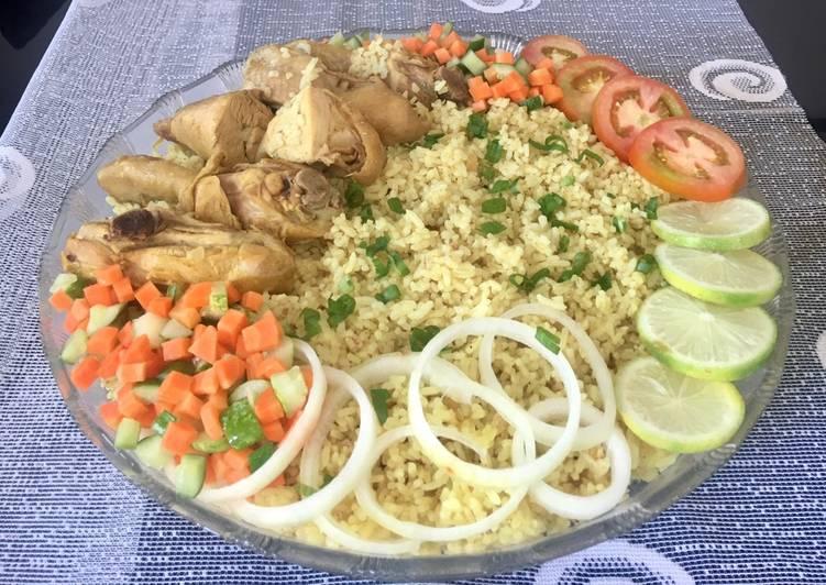 Nasi mandi ala keluarga Rima (beras biasa)