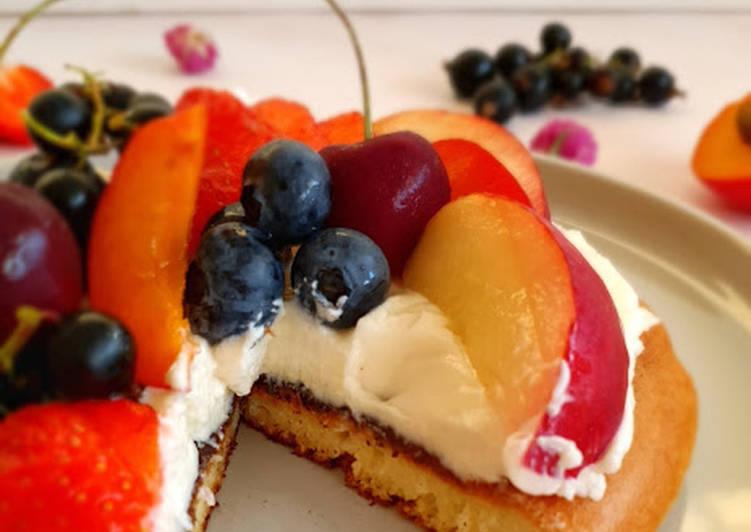 Comment Cuisiner Appétissant Pancake aux fruits façon tarte