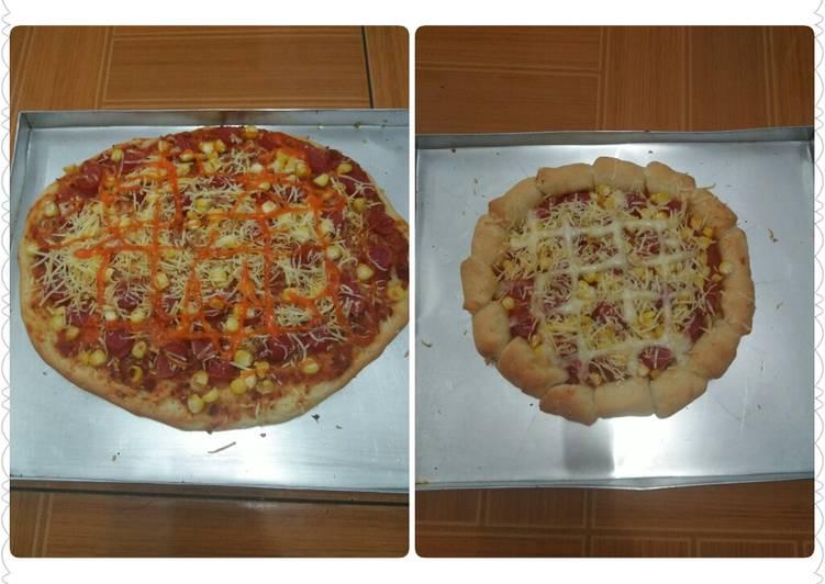 pizza ulen 3 menit otangoven tangkring foto resep utama Resep Indonesia CaraBiasa.com