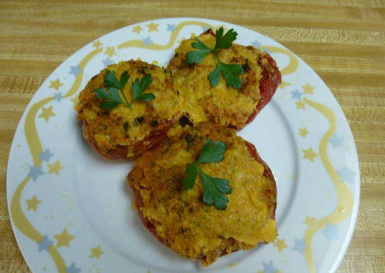 Easy Stuffed Baked Tomatoes