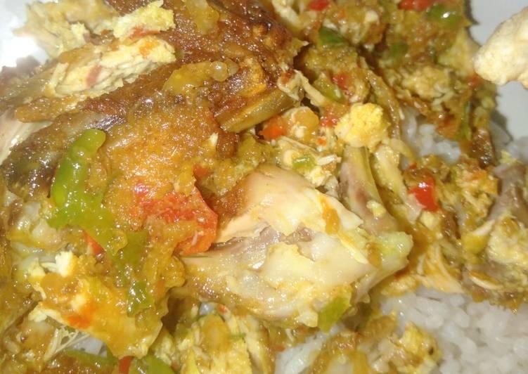 Ayam geprek simple