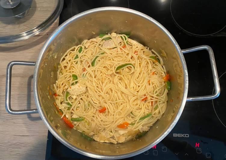 Recipe of Ultimate Mixed Veggies with Spaghetti