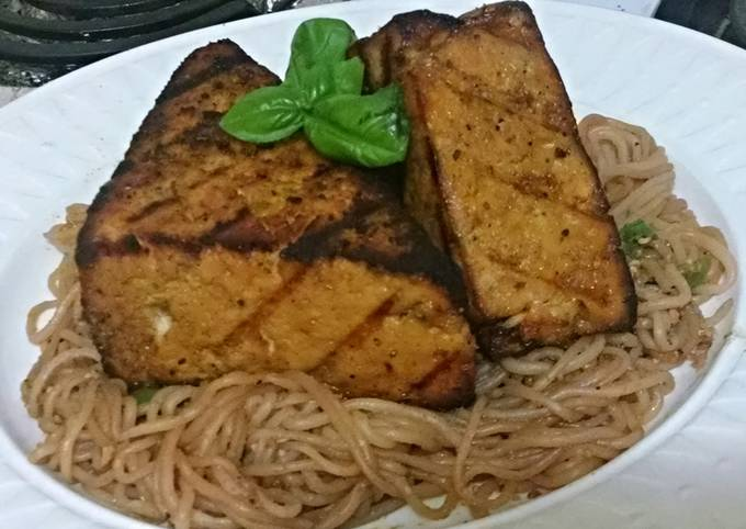 Sweet & Smokey Grilled Tofu with Shiritaki Noodles