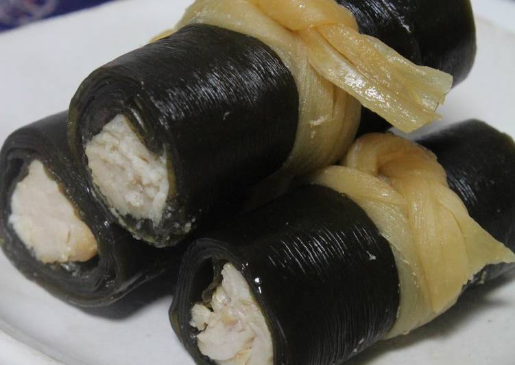 20 Minute Dinner Easy Special Kombu Rolls with Chicken Breast in a Pressure Cooker