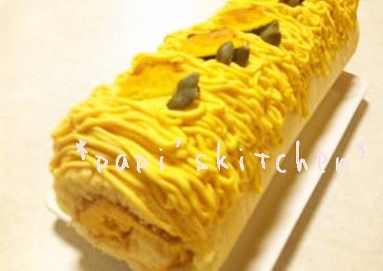 Halloween Kabocha Squash Roll Cake