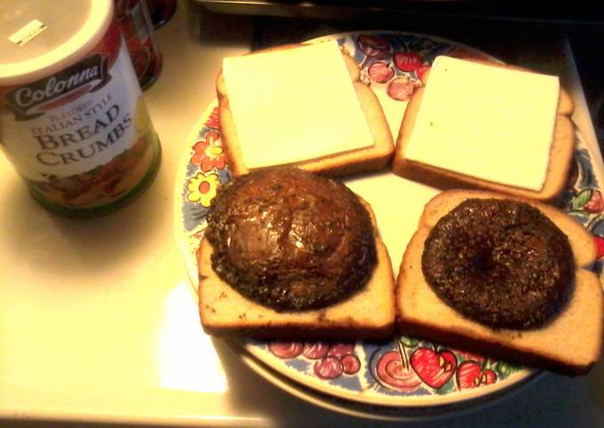 Portabello Mushroom Burgers Cooked In the Oven