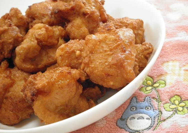 Steps to Make Perfect Easy and Juicy Fried Chicken with Mentsuyu