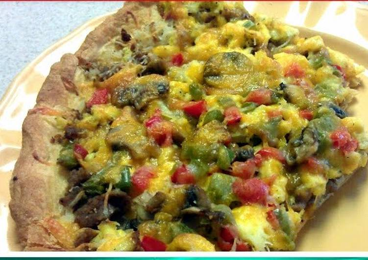 Breakfast Pizza Croissant Crust