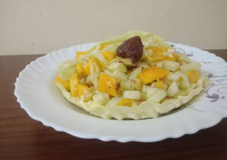 Cabbage Bowl Veg Fruit Salad