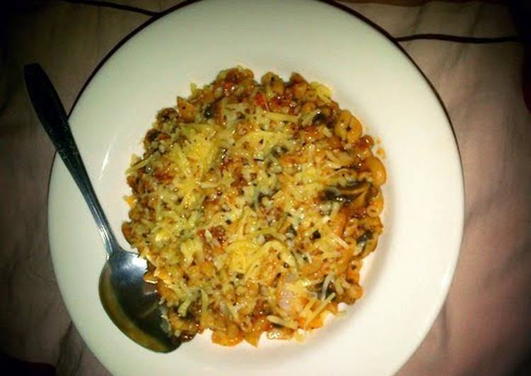 Macaroni Mushroom with Bolognese Sauce