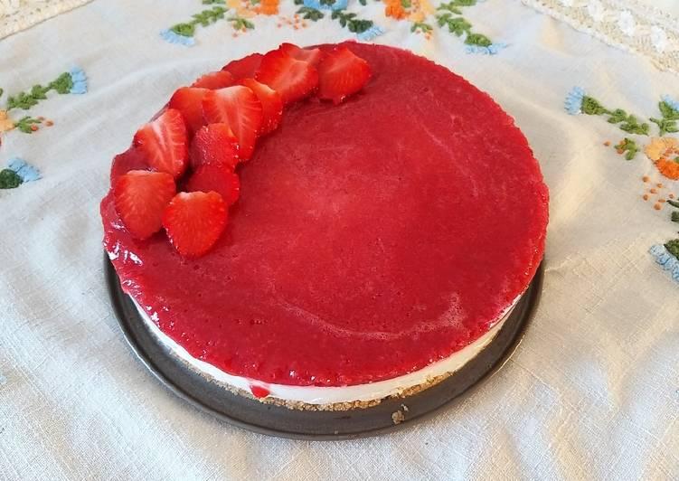 Ricetta Cheesecake alle fragole (senza cottura)