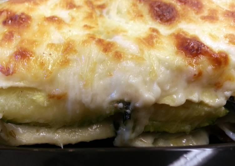 Zucchini Lasagna w/ Rosemary & Goat Cheese