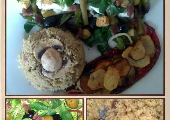 sig's  Green salad with Caesar dressing