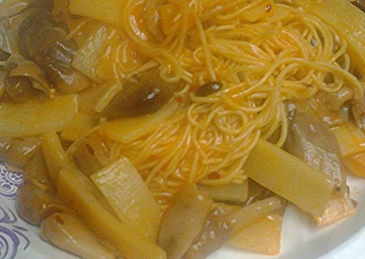 How to Prepare Speedy Canton noodles with mushrooms