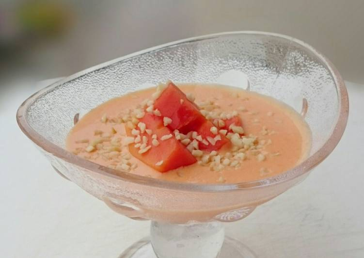 Valentine's Day Papaya Coconut Vegan Dessert