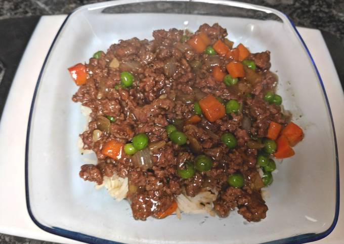 Cantonese Style Beef Rice Bowl