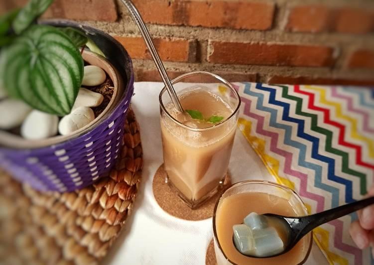 Milk Tea Nata de Coco