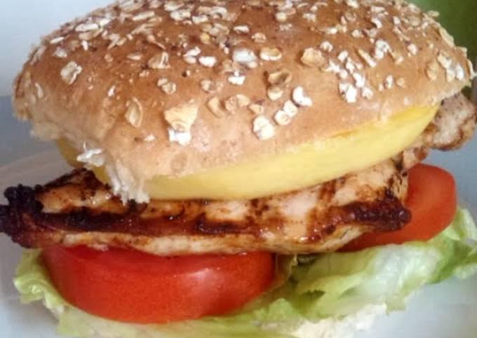 Vickys Jerk Chicken & Mango 'Burgers', GF DF EF SF NF