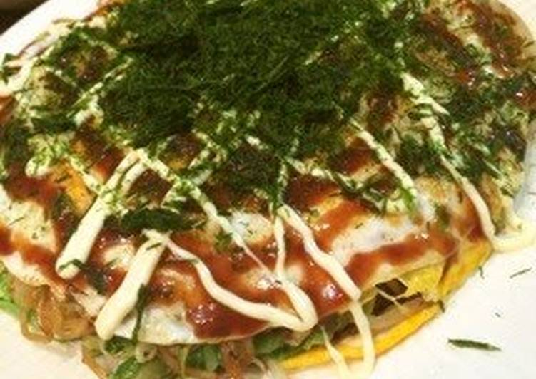 Simple Way to Make Award-winning Hiroshima-style Okonomiyaki made with Two Pans