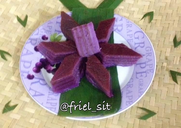 Kue lapis ubi ungu