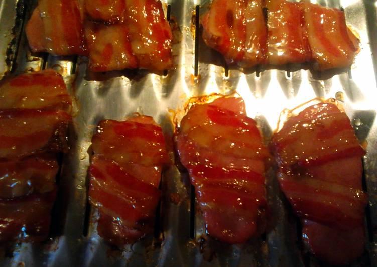 Recipe: Tasty honey glazed bacon pork chops