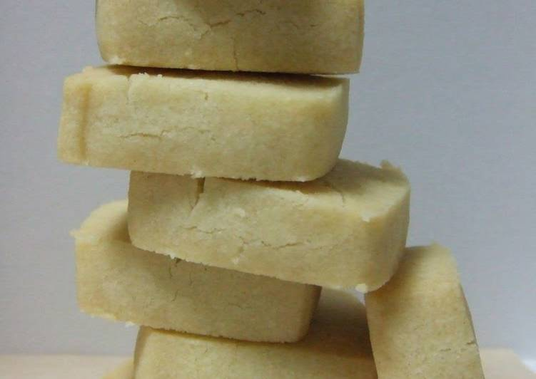 Recipe of Super Quick Homemade Salted Shortbread Cookies with Olive Oil