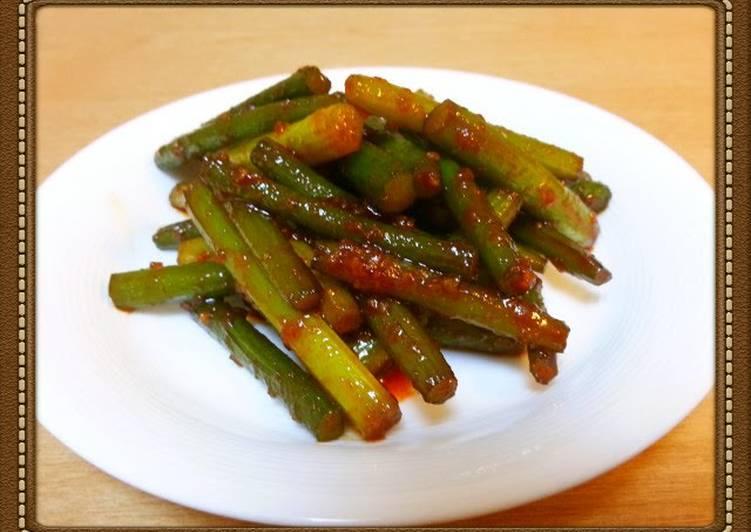 Recipe of Ultimate Garlic Shoot Bokkeum (Korean-Style Sauté Dish)