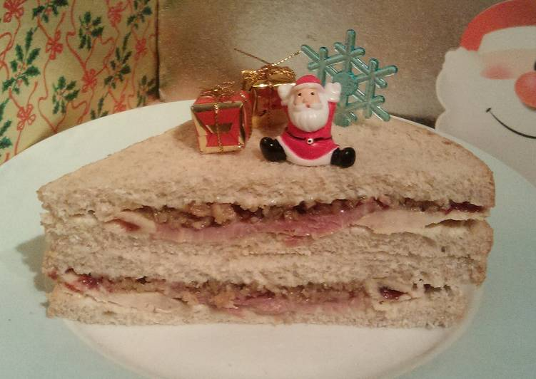 Vickys Christmas Leftovers Sandwich