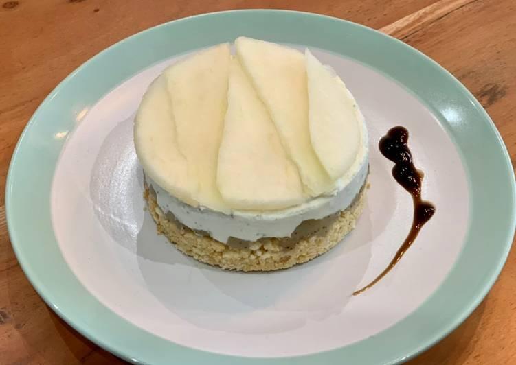 Comment faire Préparer Savoureux Cheesecake salé poire rôtie & bleu d'Auvergne
