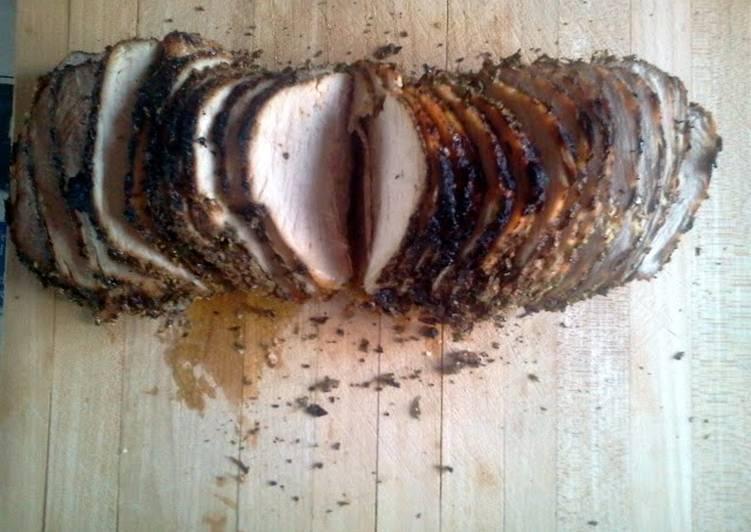 Garlic and basil Crusted Pork Roast