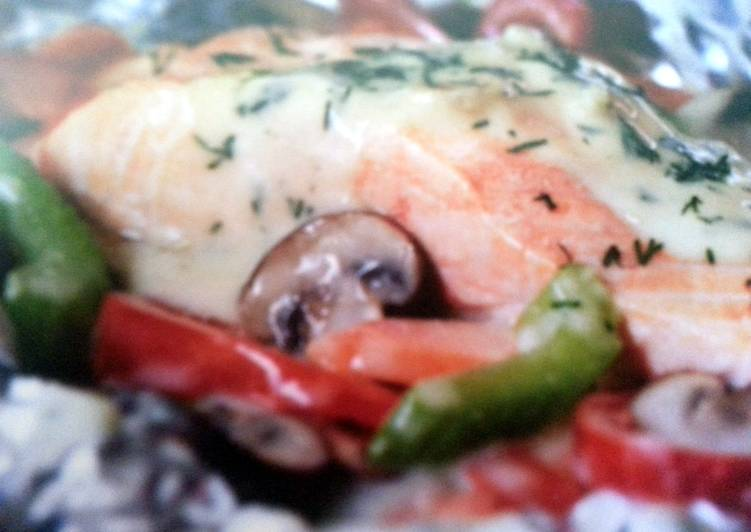 Recipe of Favorite Foil Grilled Salmon
