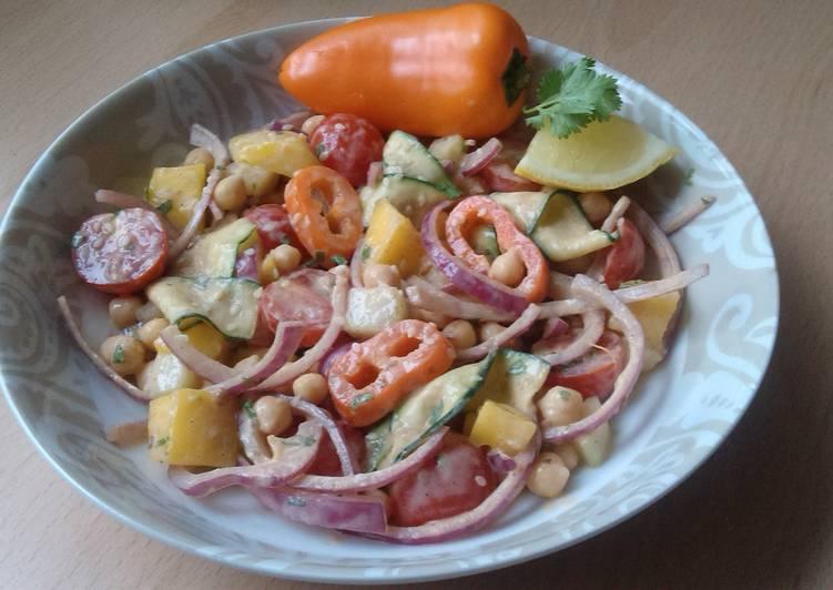 Recipe: Delicious Vickys Chickpea & Mango Salad w Creamy Dressing, GF DF EF SF NF