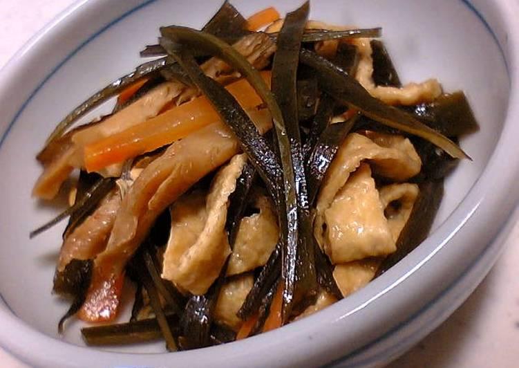 Easiest Way to Make Award-winning Healthy Simmered Konbu Seaweed