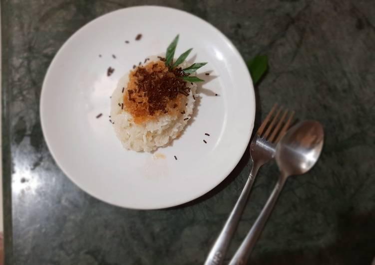 Ketan kelapa gula merah