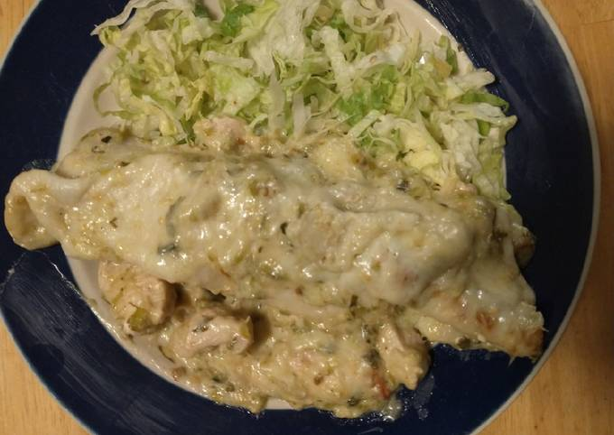 Step-by-Step Guide to Make Speedy Chicken Enchiladas (white sauce)