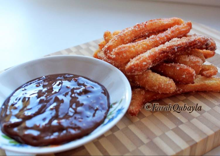 Mini Churros with Chocolate Dipping Sauce
