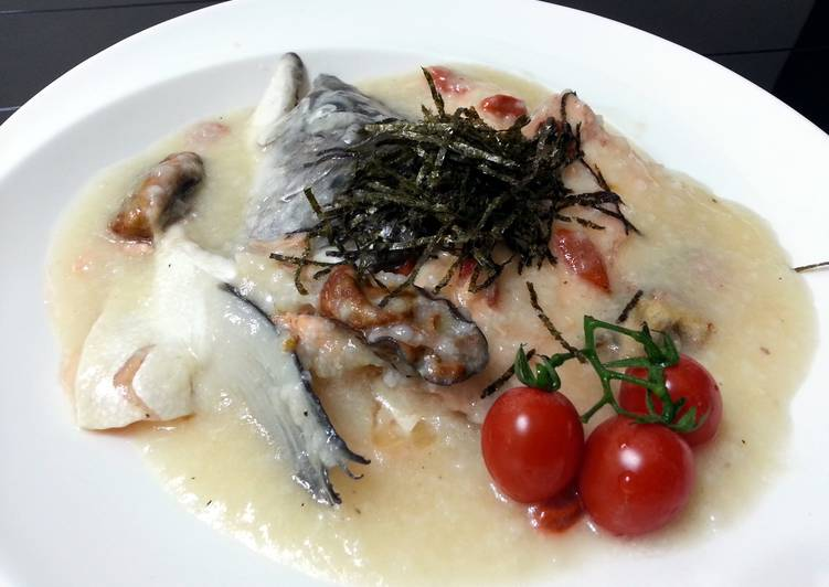Recipe of Super Quick Homemade Salmon In Velvety Congee
