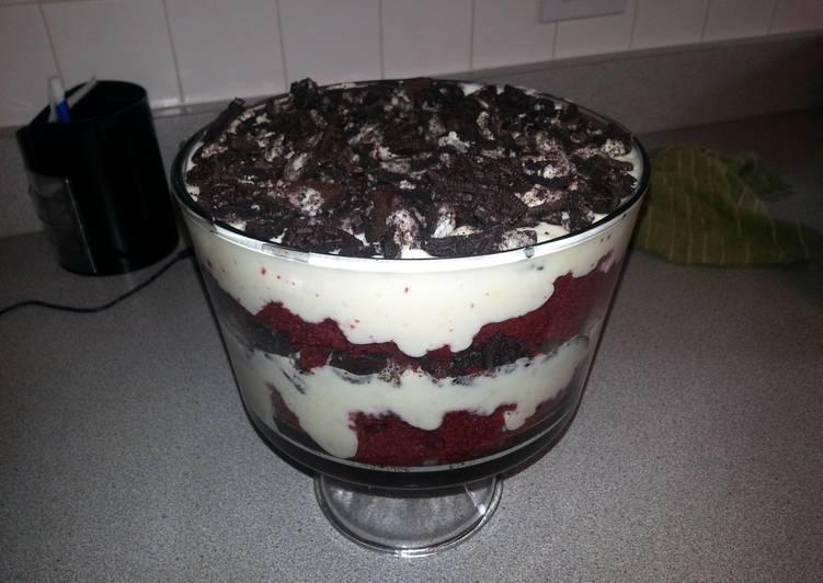Recipe of Ultimate Red Velvet Cheesecake Oreo Trifle